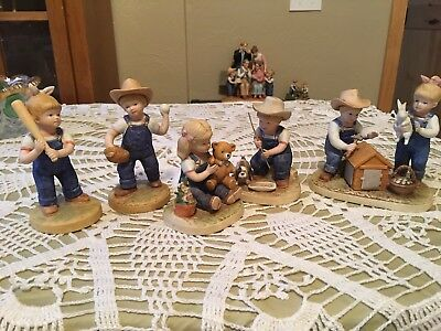 HOMCO Denim Days Figurines Mint Condition. Must See!!