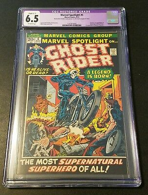 Marvel Spotlight #5 1st Appearance of Ghost Rider!!! Restored Mega Key! CGC 6.5