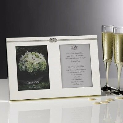 VERA WANG WEDGWOOD Infinity Invitation Silver Double photo Picture ...