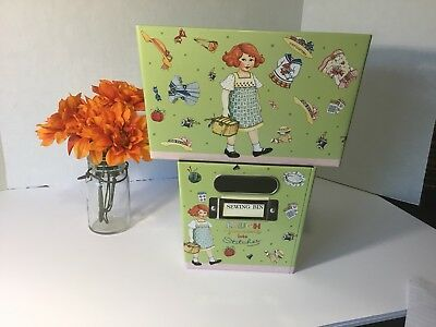 Mary Engelbreit Sewing Bins Set Of Two Tins Darling!