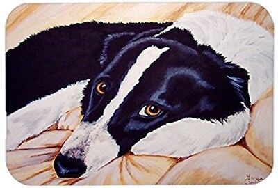 Caroline's Treasures Naptime Border Collie Glass Cutting Board, Large,