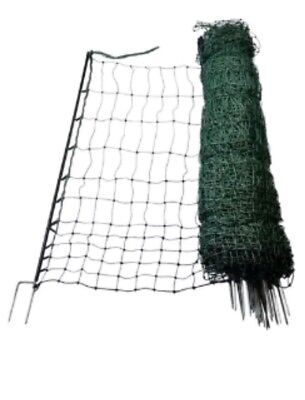 Electric Netting - 50m Green Poultry Mesh Fence Net