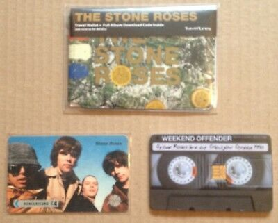 The Stone Roses live glasgow green 90 USB & TSR traveltunes wallet LP, phonecard