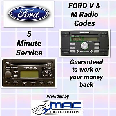 FORD V & M radio code service, retrieved by serial number within minutes