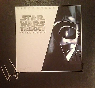 Star Wars Trilogy Special Addition Laser Disc Set Autographed By Harrison Ford