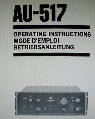 sansui au 517 int st amp operating instructions printed english rh picclick co uk