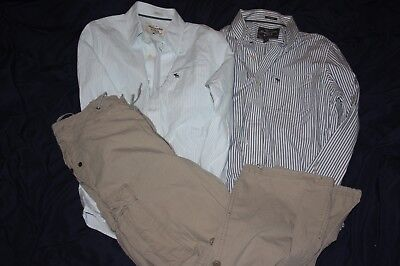 Mixed Lot of 3 Abercrombie and itch Mens Large Shirts Cargo Pants Muscle Fit