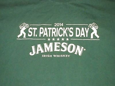Jameson Irish Whiskey St Patricks Day 2014 T Shirt Sz XL Bar Liquor Distiller