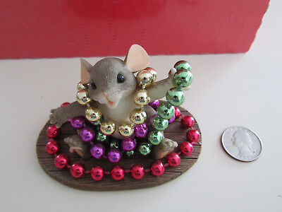 """Charming Tails """"Mardi Gras Mouse"""""""