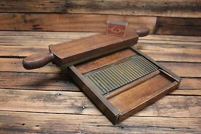 Vintage Pharmacy Apothecary Brass Timber Pill Rolling Machine Antique Tool