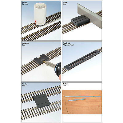 Deluxe 7-Piece HO Gauge Track Laying Set ***See Description***