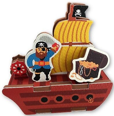 Pirate Bath Toys -  10 Piece Foam Set With Storage Bag/Organizer/Holder