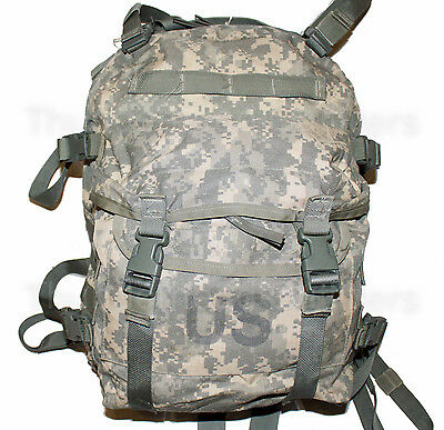US Army ACU ASSAULT PACK w/o Back Stiffener 3 Day MOLLE Backpack Bug Out Bag VGC