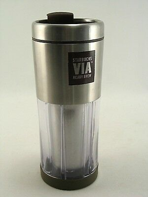 Starbucks Coffee 2009 10 Oz Stainless Steel Clay Lined