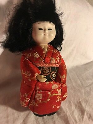 """Oriental Asian Japanese Chinese  Doll Vintage 7"""""""