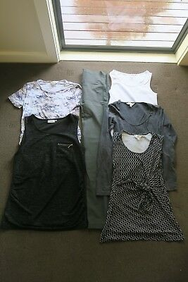 Women's maternity clothes size 8 /XS/ extra small -mixed bundle (tops/ trousers)