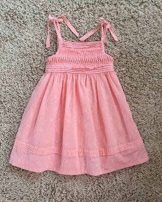Janie And Jack Baby Girls 12-18 Months Pink Spring Summer Dress