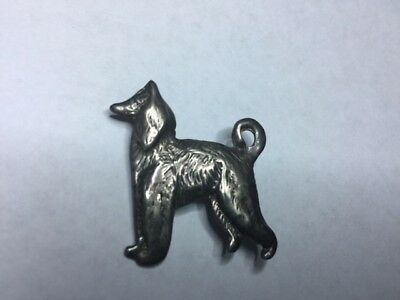 Sterling Vintage Afghan Hound Dog Pin From Estate Nice!
