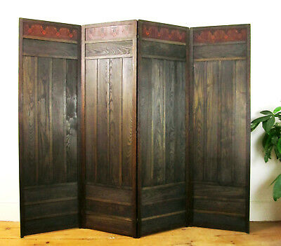 Arts and Crafts Screen Liberty & Co. Mission style Stickley Era Dressing Screen