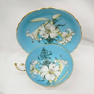 Paragon EASTER LILY Teacup and Saucer  Bone China England By Appointment Queen