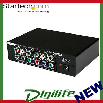 STARTECH 3 Port Component Video Splitter with Digital Audio ST123HDA