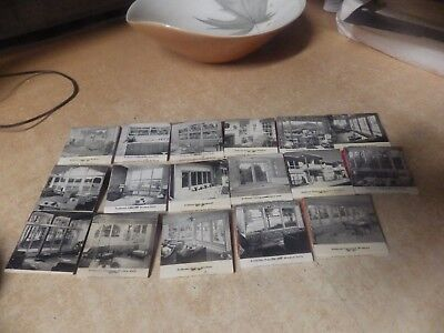 Vintage Lot Of 17 Mid Century Anderson Windows Matchbooks Frank Wright Photo