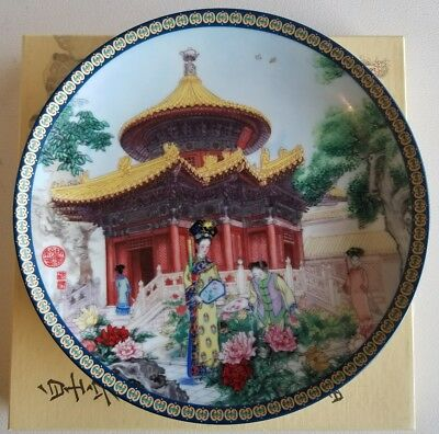 """Pavilion of 10,000 Springs"" Imperial Jingdezhen Porcelain 1991 Forbidden City"