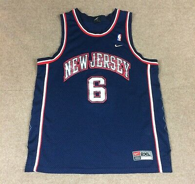 26a2f75b600 VTG Nike Kenyon Martin New Jersey Nets NBA Jersey #6 Navy Blue Adult 2XL  Sewn