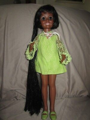 Vintage Ideal African American AA Black Crissy Doll w/original clothes shoes