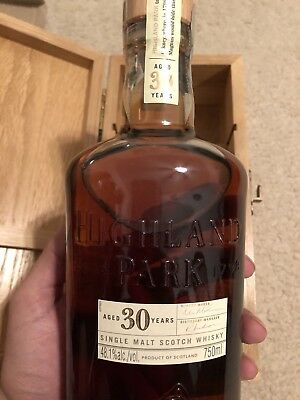 The Highland Park 30 Year Old Single Malt Scotch Whisky. Extremely Rare.