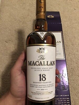 The Macallan 18 Year Old *2016* Single Malt Scotch Whisky.  With Box!