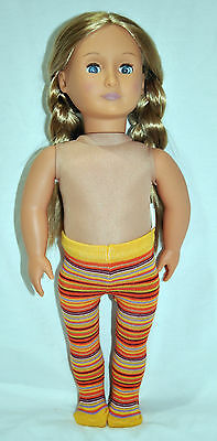 """American Girl Doll Our Generation Journey 18"""" Dolls Clothes Doll Tights Stripped"""