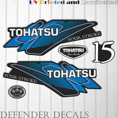 Tohatsu 9.9HP Two Stroke Outboard Engine Decals Sticker Set reproduction 9.9 HP