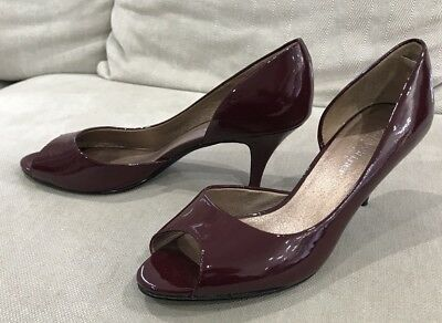 Gorgeous Zoe WITTNER Patent Leather Maroon Heels Sz 8 Shoes Excellent Condition