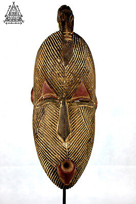 Vintage African Songye Mask with Bird, Congo, Africa