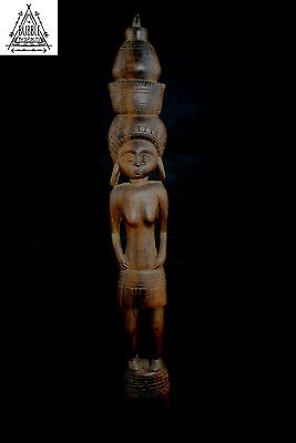 Fine Vintage Ebony Carved Female Figure, Trobriand Island, Papua New Guinea, PNG