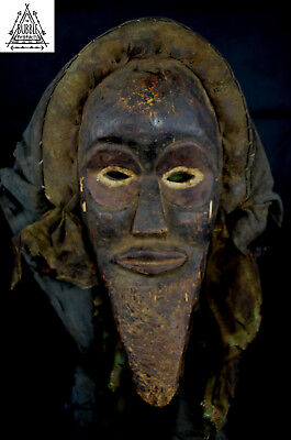 Rare Vintage Tribal Dan Fetish Mask, Ivory Coast, Africa
