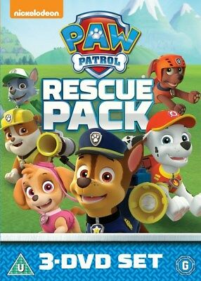Paw Patrol Rescue Pack Collection TV Show DVD 3 Disc Boxset 25 Episodes New