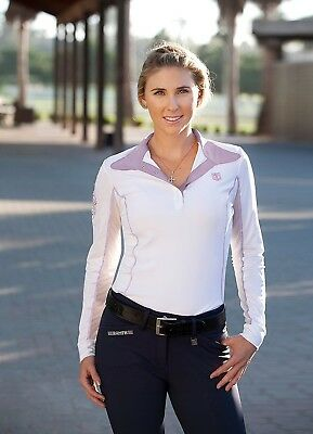 (X-Small, Iris) - Romfh Ladies Competitor LS Show Shirt. Shipping is Free