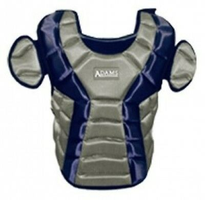 (Navy) - Adams ACP-15 Junior Chest Protector with Detachable Tail (38cm )