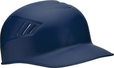 (Medium, Navy) - Rawlings Coolflo Matte Style Alpha Sized Base Coach Helmet