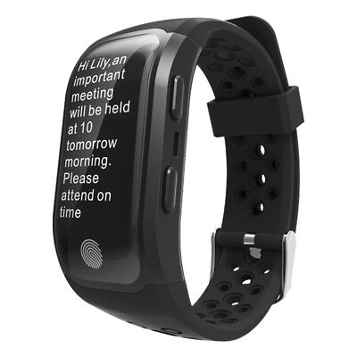 (Black) - Fitness Activity Tracker,Gentman S908 Sport Smart Wristband Heart