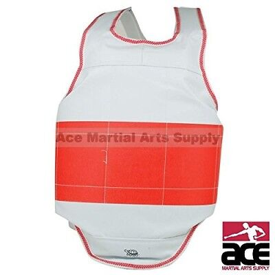 (1 - Child Large) - Reversible Chest Guard Stripe. Ace Martial Arts Supply
