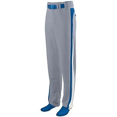 (Adult 2XL, Grey Pants with Royal/White Piping) - Travel Ball/All-Star/High