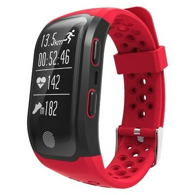 (Red) - Fitness Activity Tracker,Gentman S908 Sport Smart Wristband Heart Rate