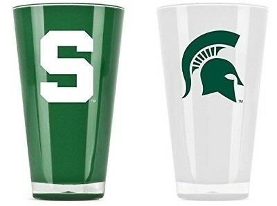 Michigan State Spartans Tumblers - Set of 2 (590ml). Indian Marketplace