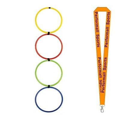 Champion Sports Bundle: Hoop Agility Ladder Assorted + 1 Performall Lanyard