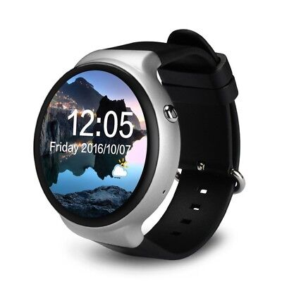 (Silver) - Gentman IQI I4 3G Smart Watch 3.5cm AMOLED Round Screen Android 5.1