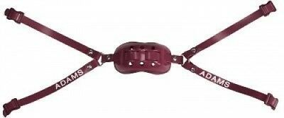 (Maroon) - Adams USA PRO-100-4D 4-Point High Football Chin Strap with D-Rings