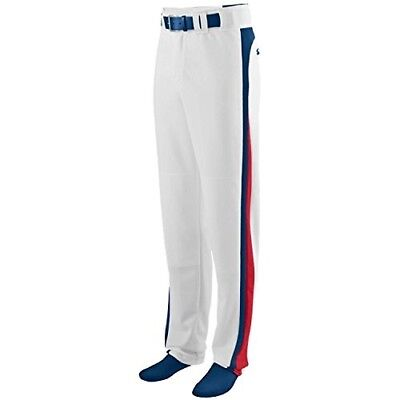 (Youth XL, White Pants with Navy/Red Piping) - Travel Ball/All-Star/High